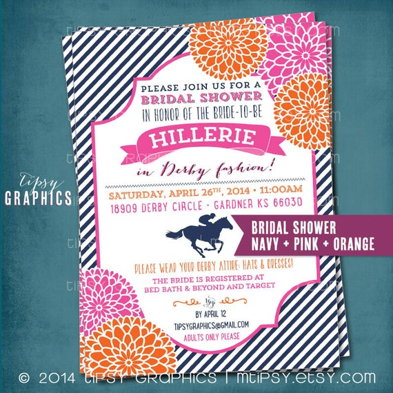 Kentucky Derby Birthday or Bridal Shower Party Invitation