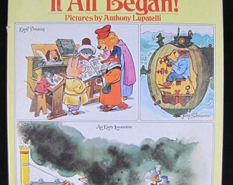 The way it all began! // 1975 1st US Edition Hardback // How things were started Children's book