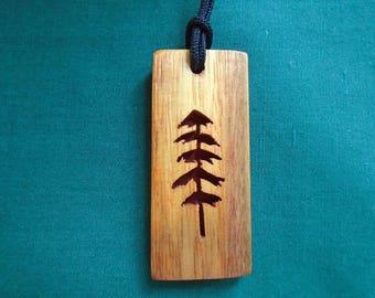 Sitka tree Necklace, Spirit Jewelry, Tree Pendant, Native American jewelry,  Handcrafted pendant