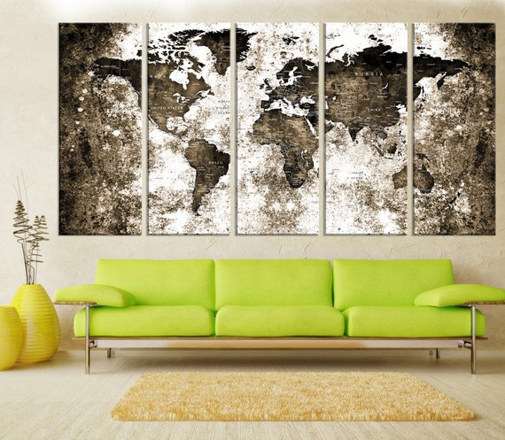 Push pin world map canvas wall art travel map extra large push pin world map canvas wall art travel map extra large canvas print travel world map push pin abstract wall art print canvas no9s19 gumiabroncs Image collections