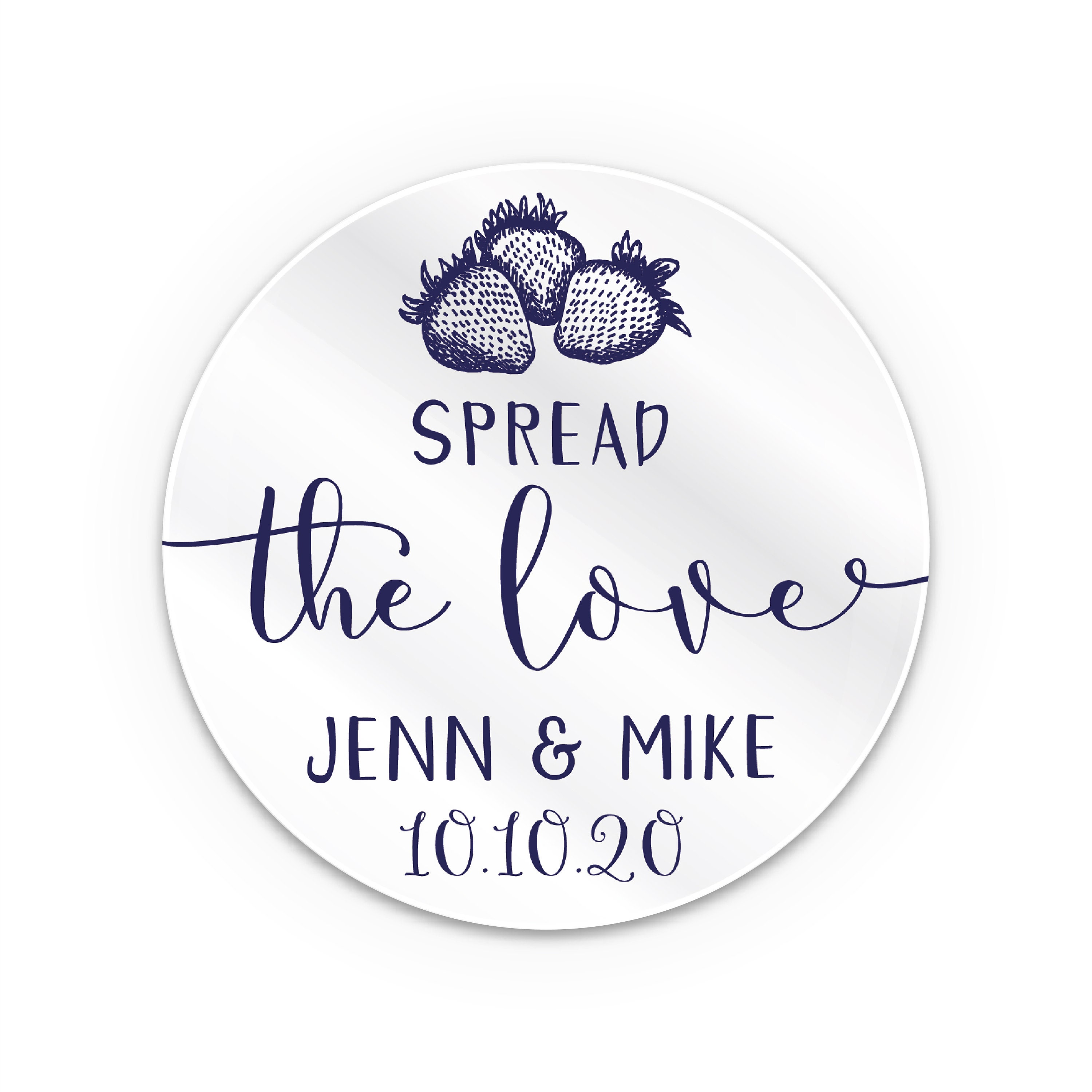 Personalised gift, Honey jar wedding favors stickers, Spread the ...