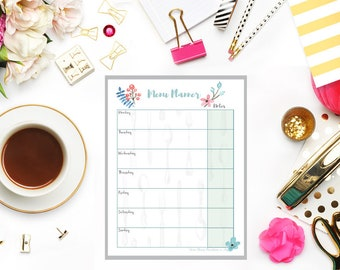 Meal Plan, Meal Planning Calendar, Meal Planning, Weekly Menu Plan,Weekly Meal Planner Printable, Weekly Menu Board,  Printable,A4,A5,Letter