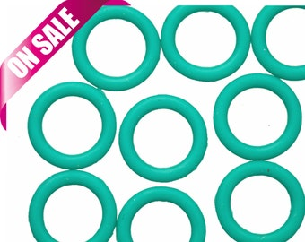 25Pcs Mint O-Ring for Licorice Leather 2x12mm