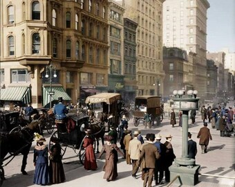 New York City street - - Echoes From The Past , Early 1900's