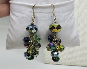 Handmade Pierced Earrings with Vintage Beads