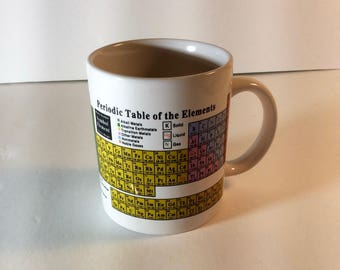 Periodic Table of the Elements mug coffee cup 12 oz CAFFCO of San Francisco