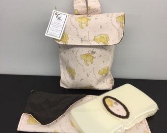 On The Go Mini Diaper Bag Set_Pink Winnie The Pooh