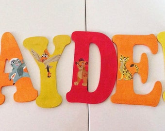 Personalized custom painted letters