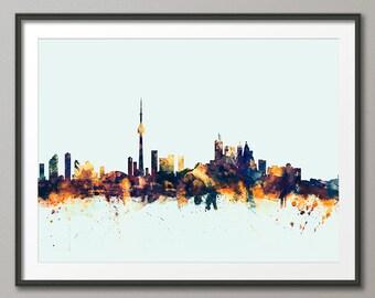 Toronto Skyline, Toronto Canada Cityscape Art Print (1588)