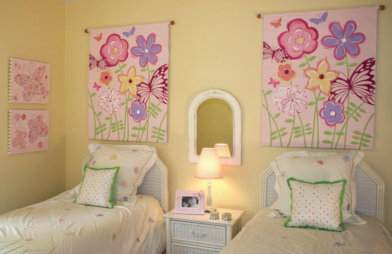 nursery art kids rooms flower wall art garden theme