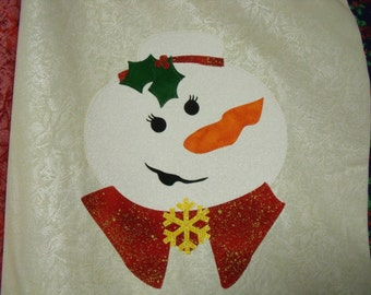 KIT - SNOWLADY GRANDMA Block Kit with Pre-cut Fabric Die Cut Applique w/iron-on fusible backing