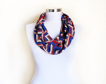 Multi Color Aztec Print scarf, İnfinity Scarf, Circle Scarf, Loop Scarf , Scarves, For Women Girl  Gift , Women Accessories