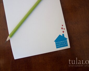 Love House - Family Personalized Notepad