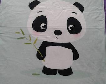 """""""Panda"""" fabric and fleece blanket"""