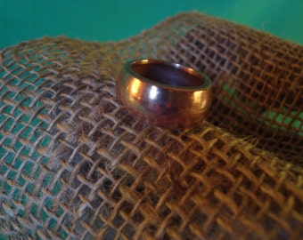 Ring--Size 7--Solid Copper Ring--Hand Polished--Smooth Band