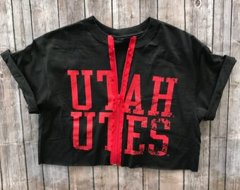 University of Utah Utes Zipper Tee
