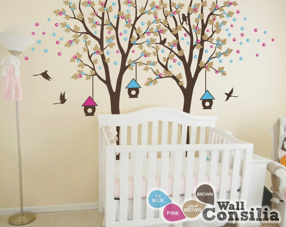 Superb Baby Kinderzimmer Wandtattoo Vogelhaus Baum Wall Decal