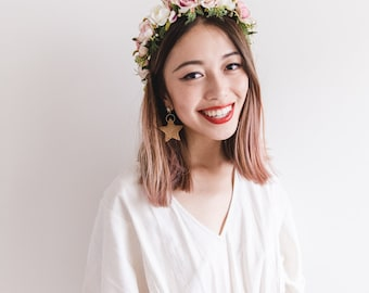 forest bridal wedding flower crown // FLEUR REINE / bohemian floral headpiece flower crown
