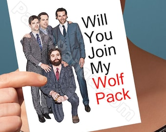 Funny Groomsmen Card | The Hangover | Wedding Day Card Engagement Party Wolfpack Card Marriage Card Groomsmen Gift Zach Galifianakis Card