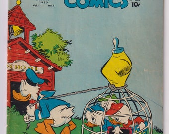 Walt Disney's Comics and Stories; Vol 1, 121, Golden Age Comic Book. VG (4.0). October 1950. Dell Comics