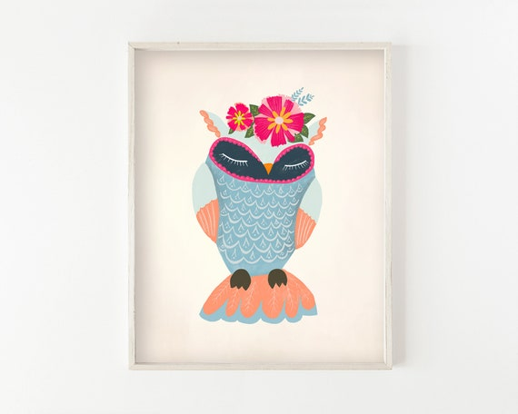 """Maribel Owl"" - illustration print"