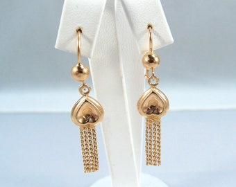 Elegant 18K solid gold dangling earrings Stamped 750 Numbered danglers Makers mark Fine jewelry Versatile drop earrings