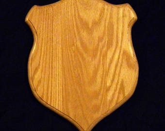 Solid Oak Taxidermy plaque