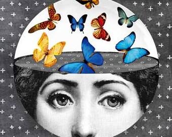 Lina Cavalieri Butterflies plate