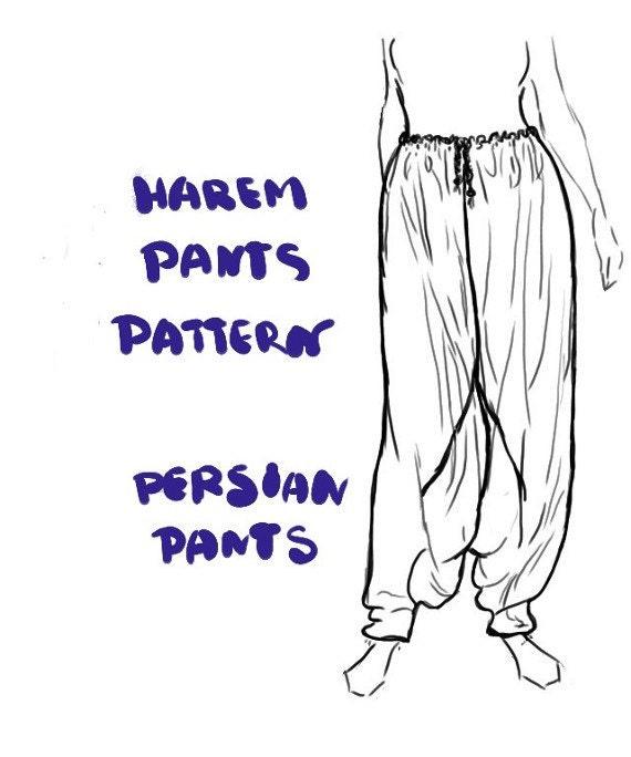Harem Pants Instant Download PDF Sewing Pattern Aladdin
