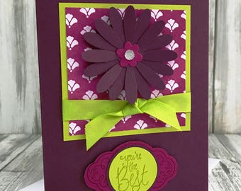 Stampin Up Handmade Greeting Card, You're the Best Card
