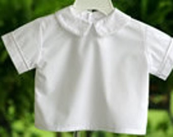 Peter Pan Collar Boys Shirt- Sizes 3 months-4T Ready to Ship