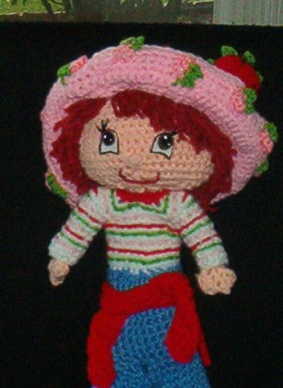Soft Crocheted Strawberry Shortcake Doll