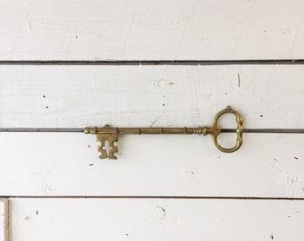 Vintage brass key hook