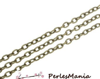 2 m chain BRONZE 420257-140 mesh 2.3 3.2 mm for creating necklaces