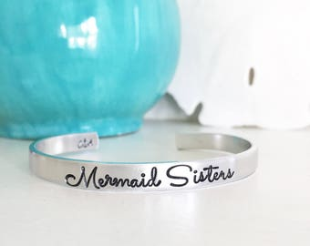 Mermaid Sisters, Mermaid Jewelry, Mermaid Bracelet, Beach Jewelry, Beach Bracelet, Beach Style, Coastal Style, Coastal Jewelry, Beach Girl