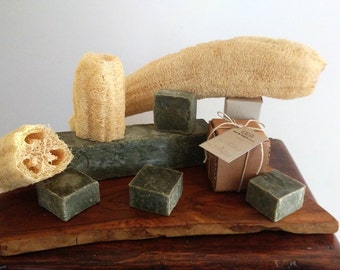 NATURAL - Vegetal soap and Luffa spunge