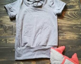 Sweater, evolutionary, gray, plain, 1-3 years, unisex