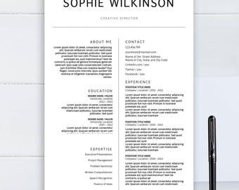 minimalist resumes