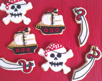 One Dozen - Pirates on the High Seas Cookie Party Favors