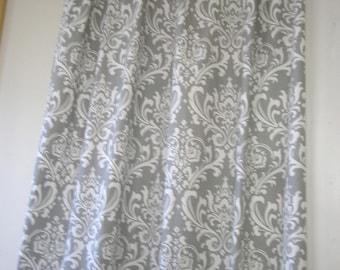 Premier prints ozborne ozbourne, storm gray, Pair (2 panels) designer drapes, curtain panels, cotton twill