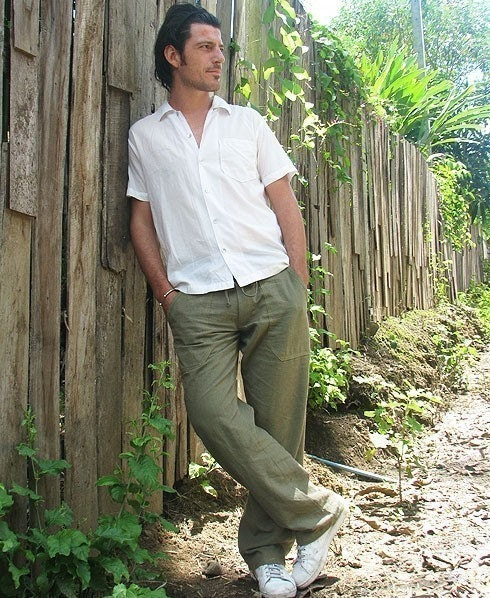 Men's 100 percent hemp pants.. available Inall color all size S,M,L,XL,(1434)