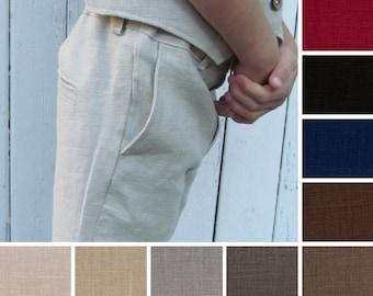 Natural Linen Pants - Linen Trousers - Linen Pants - Baby Boy Pants - Boys Pants - Toddler Pants - Brown Pants - Grey Pants - Beige Pants