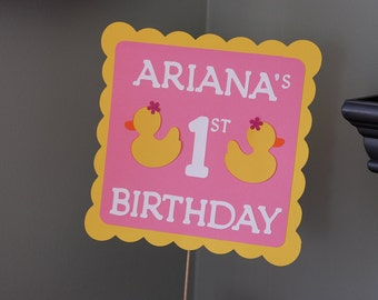 Rubber Duck Sign Sign, Rubber Duck Baby Shower, Duck Birthday,