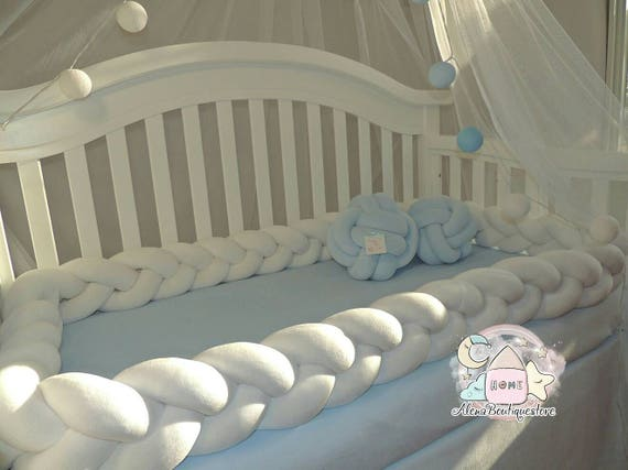 Braided Crib Bumper Nursery Beddingkids Room Decorbaby