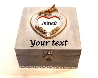 Personalized Ring Bearer Pillows, Engraved Ring Box, Personalized Ring Box, Ring Bearer Box, Gift Love Box, Heart Gift Box, Wooden Ring Box