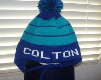 Prsonalized child's knit hat - Colton