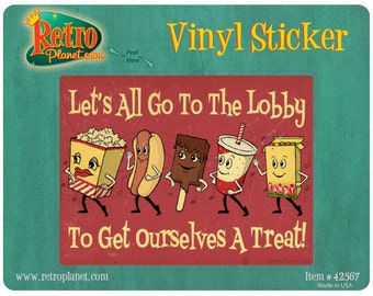 Lets Go to the Lobby Dancing Snacks Vinyl Sticker #42567