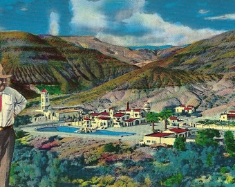 Vintage California Postcard Death Valley Scotty