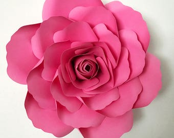 SVG Petal #14 Paper Flower Template with Base, DIGITAL Version - The Kentucky Rose - Original Design by Annie Rose