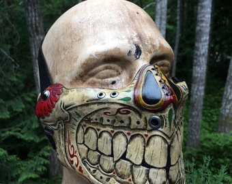 Leather skull Mask Sugar skull day of the dead mask